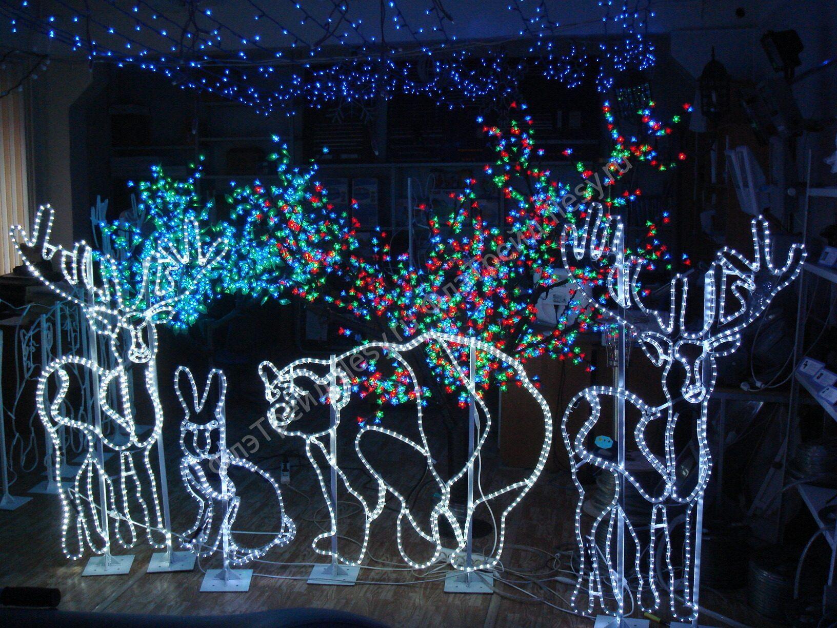 Новогодняя гирлянда из светодиодов своими руками